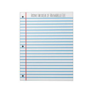 Schulregel Notizblock