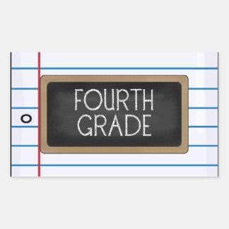 Schulsammlungs-vierte Grad-Spaß-Aufkleber