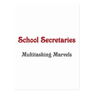 Schulsekretäre Multitasking Marvels Postkarte