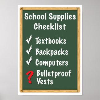 Schulsicherheit liefert Checkliste Poster