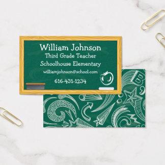 Schultafel-Lehrer-Visitenkarte Visitenkarte