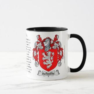Schulte Familien-Wappen Tasse