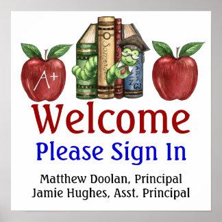 Schulverwaltung/unterzeichnet herein Plakat - SRF