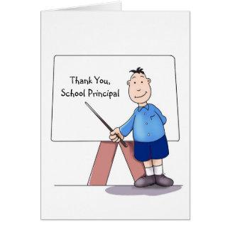 Schulvorsteher danken Ihnen, vom Studenten zu Grußkarte