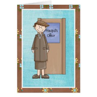 Schulvorsteher-Frau danken Ihnen Grußkarte