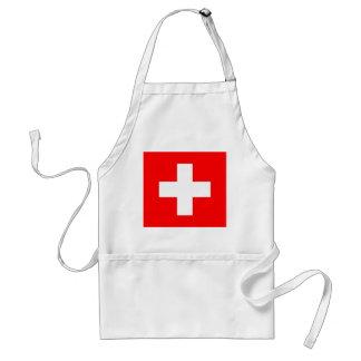 Schürze mit Flagge von der Schweiz