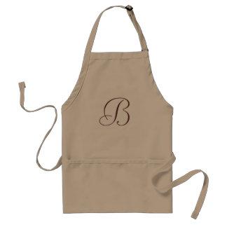 Schürze mit Initiale des Buchstaben B