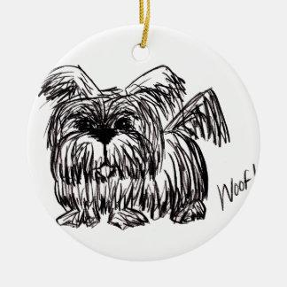 Schuss ein Staub-Mopp-Hund Keramik Ornament
