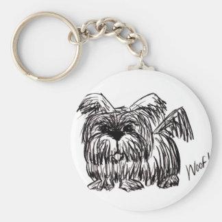 Schuss ein Staub-Mopp-Hund Schlüsselanhänger