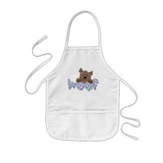 Schuss-Hundeblaue T-Shirts und -geschenke Kinderschürze