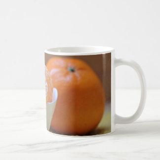 Schüssel der abgezogenen OrangeTasse Kaffeetasse