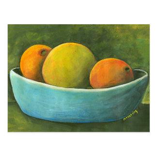 Schüssel Frucht-Stillleben Postkarte