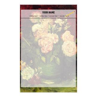 Schüssel mit Pfingstrosen und Rosen durch Vincent Briefpapier