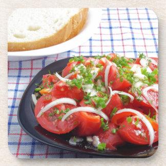 Schüssel vegetarischer Salat Untersetzer