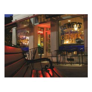 Schüttel-Apparatquadrat nachts - 2 Postkarte