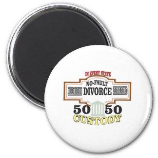 Schutz 50 50 in der Heirat Runder Magnet 5,1 Cm
