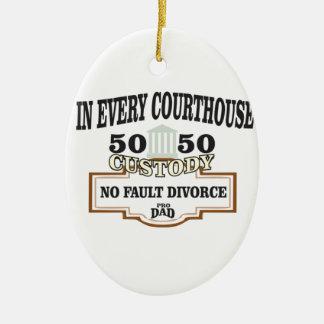 Schutz 50 50 in jedem Gericht Keramik Ornament