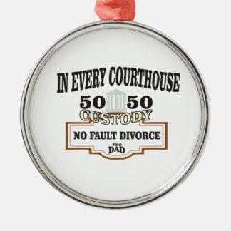 Schutz 50 50 in jedem Gericht Silbernes Ornament