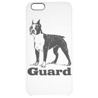 Schutz-Hund Boston Terrier Durchsichtige iPhone 6 Plus Hülle