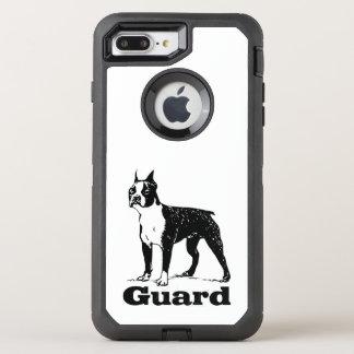 Schutz-Hund Boston Terrier OtterBox Defender iPhone 8 Plus/7 Plus Hülle