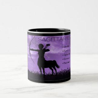 Schütze-Bogenschütze-Tierkreis-Tasse mit Merkmalen Zweifarbige Tasse