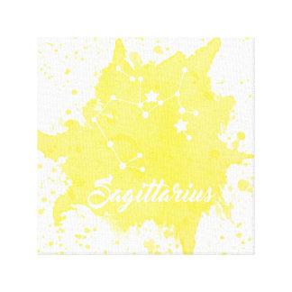 Schütze-gelbe Wand-Kunst Leinwanddruck