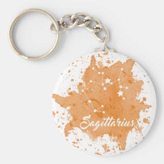 Schütze-Orange Keychain Schlüsselanhänger
