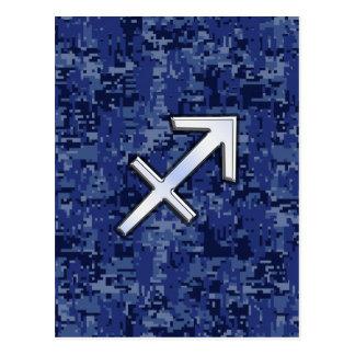 Schütze-Tierkreis-Symbol NavyDigital Tarnung Postkarte