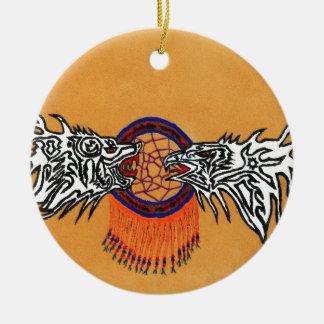 Schutze unserer Träume Rundes Keramik Ornament