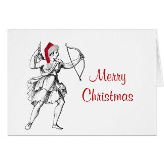 Schütze-Weihnachtskarte Karte