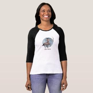 Schützeentwurf für langes Hülsenhemd der Frauen T-Shirt