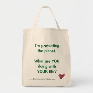 Schützen der Planeten-Lebensmittelgeschäft-Tasche Einkaufstasche