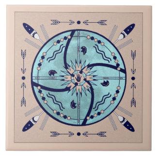Schützen Mond-Mandala-der gebürtigen Symbol-Fliese Keramikfliese