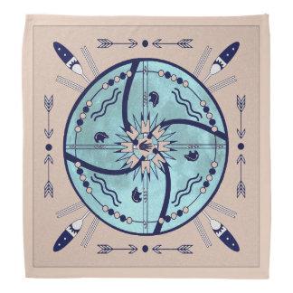 Schützen Mond-Mandala-gebürtigen SymboleBandana Kopftuch