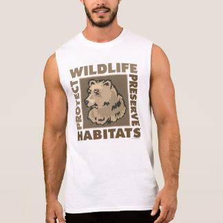 Schützen Sie Bären Ärmelloses Shirt