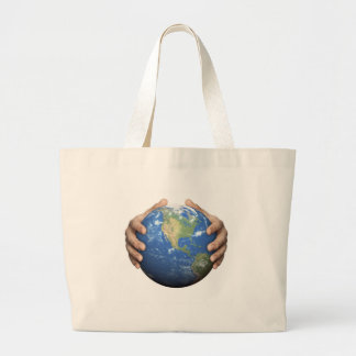 Schützen Sie die Erde Leinentasche