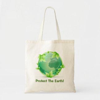 Schützen Sie die Erde Tragetasche