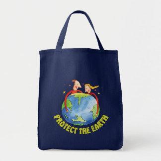 Schützen Sie die Erde Tragetaschen