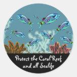 Schützen Sie die Korallenriff-Aufkleber