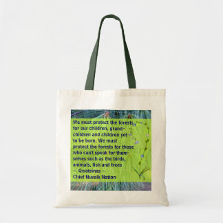 schützen Sie die Waldtasche