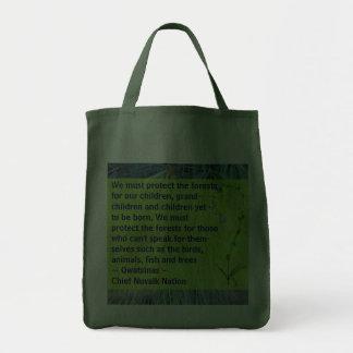 schützen Sie die Waldtasche Einkaufstasche