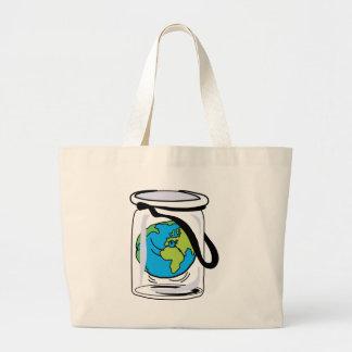 Schützen Sie die Welt Jumbo Stoffbeutel