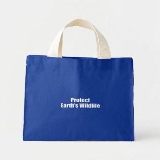 Schützen Sie die wild lebenden Tiere der Erde Einkaufstaschen