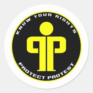 Schützen Sie Protest Runder Aufkleber