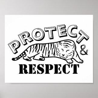 Schützen Sie sich und respektieren Sie Poster