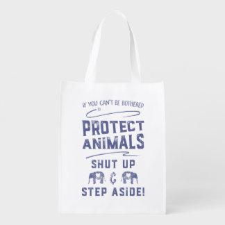 Schützen Sie Tiere Einkaufstasche