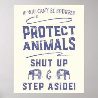 Schützen Sie Tiere Poster