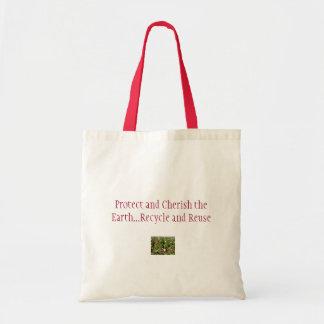 Schützen Sie und schätzen Sie die Erde Einkaufstasche