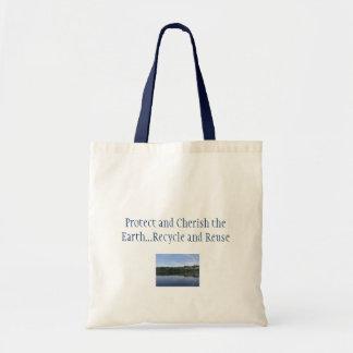 Schützen Sie und schätzen Sie die Erde Taschen
