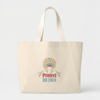 Schützen Sie unsere Erde Jumbo Stoffbeutel
